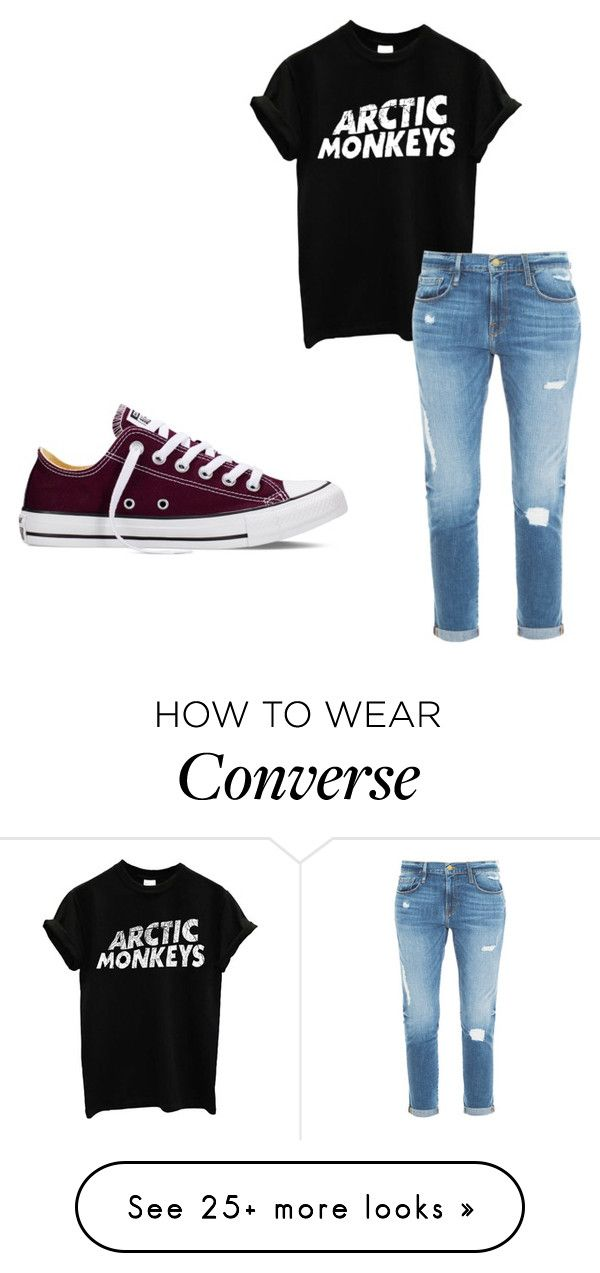 """Untitled #287"" by alltimelow2010 on Polyvore featuring Frame Denim, Converse, women's clothing, women's fashion, women, female, woman, misses and juniors"