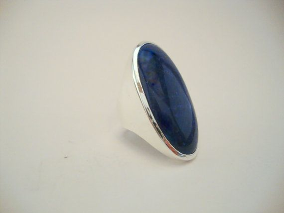 Silver Lapis Ring // Size 6 OOAK // Large Oval Cab Cut // Original One-Of-A-Kind // deep blue ring navy blue ring lapis lazuli gemstone gem stone statement ring bold ring bohemian boho gift for her sterling ring fancy ring precious ring classy classic ring modern contemporary minimal minimalist chic jewelry everyday every day ring big ring large ring regal bold ring #bold #classy #chic #minimalist etsy #etsy  https://www.etsy.com/ca/listing/205912625/silver-lapis-ring-size-6-ooak-large-oval