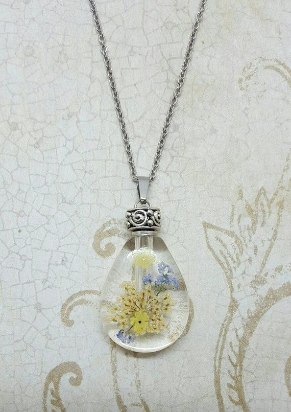 Fillable Dried Flower Pendant  Urn Jewelry by Thoughtfullkeepsakes