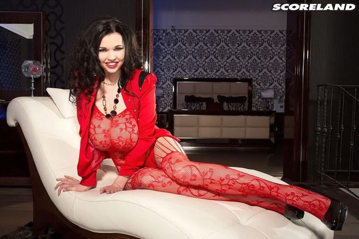 Sha Rizel in red lingerie