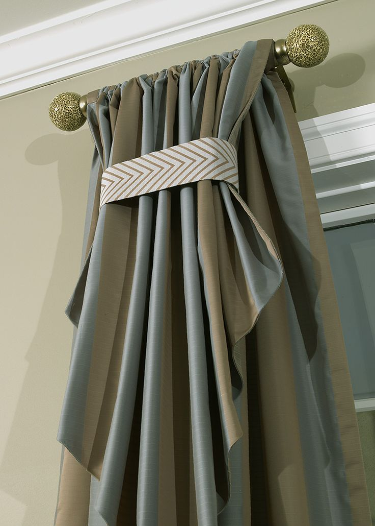 Faux Silk Drapery Panel With 39 Flip Over 39 Detail Curtains Pinterest Silk Traditional