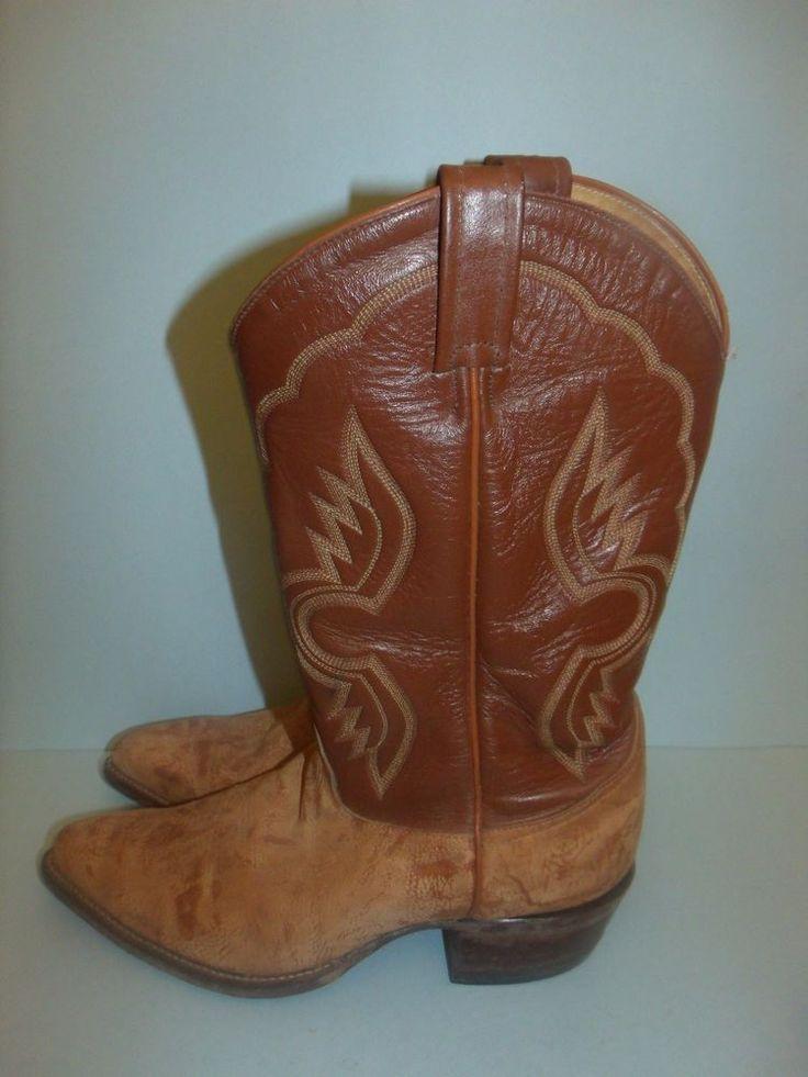 Vtg. Tony Lama Goatskin Goat Skin Boots Cowboy Boots Style 6261 Size 9 #TonyLama #CowboyWestern