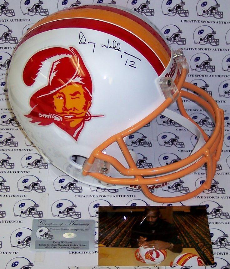 Doug Williams Hand Signed Tampa Bay Buccaneers Throwback Full Size Helmet - PSA/DNA