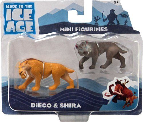 "Ice Age Continental Drift Movie Mini Figure 2Pack Diego Shira by TPF Toys. $22.99. Diego and Shira figurines. Each figurine is about 2"". Ice Age Continental Drift mini figurines. Mini figurines Diego and Shira from the movie Ice Age Continental Drift. Approximately 2 inches in size. Other figurines available. (Sold separately) Collect them all! Play with your mini figurines on the Ice Age Pirate Ship (SOLD SEPARATELY!)"
