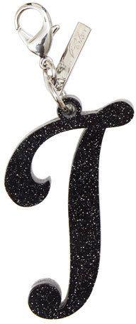 Edie Parker Alphabet J Bag Charm, Starlight Silver