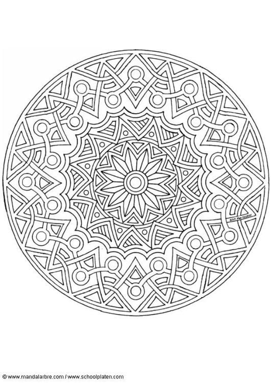Coloring page mandala-1702j - coloring picture mandala-1702j. Free coloring sheets to print and download. Images for schools and education - teaching materials. Img 4526.