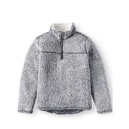 cddb5c799 1/4 Zip Up Sherpa Pullover Sweatshirt (Little Boys & Big Boys), Size ...