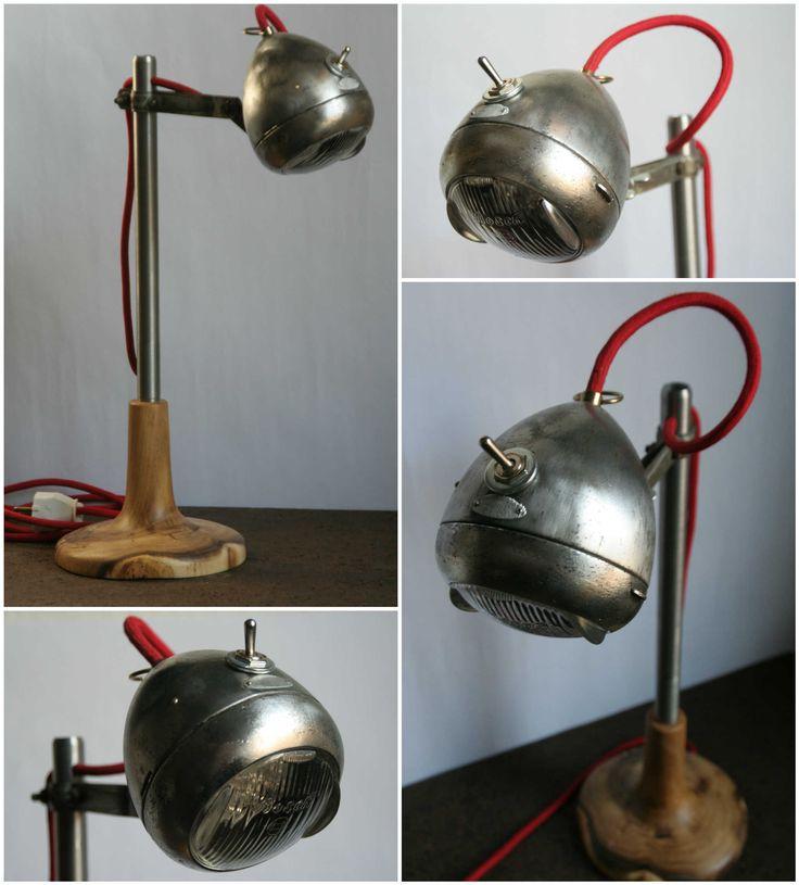 Light rider desk lamp from upcycled bike light - Iluminacion para el hogar ...