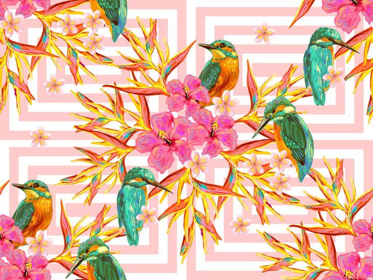 """""""Tropici"""", grafica di Sara Domeniconi  #stripes #colors #graphics #design"""