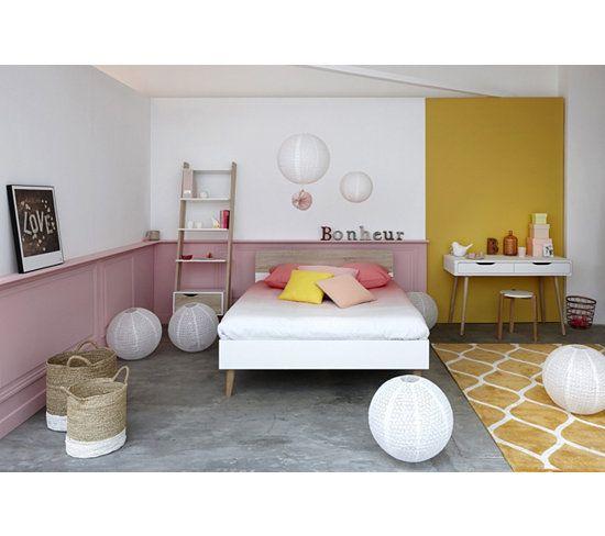 elegant bureau duangle django blanc with chambre complete but. Black Bedroom Furniture Sets. Home Design Ideas