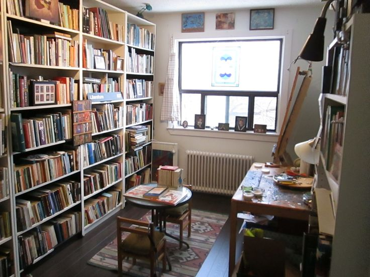 studio and library