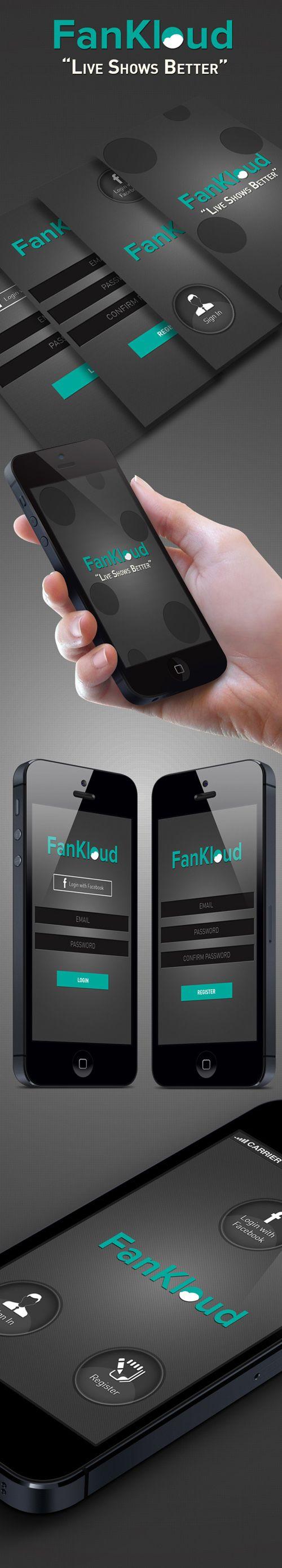 Fankloud Music Store Mobile App UI UX Design for Inspiration