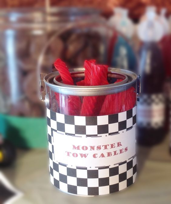 Monster Truck Party Food Ideas | Monster Truck Licorice Whips