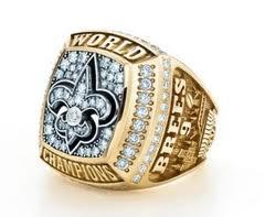 2010 New Orleans Saints Super Bowl Championship Ring GEAUX SAINTS! http://www.superbowlringsonline.com/2010-New-Orleans-Saints-Super-Bowl-Championship-Ring-n1124/
