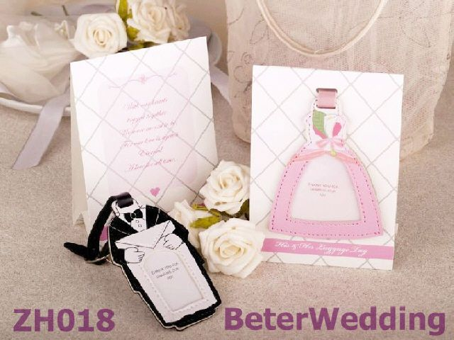 Wedding Gifts For Bride And Groom In Singapore : Bride and Groom Luggage Tag 20pcs, 10set, ZH018 use as wedding gifts ...