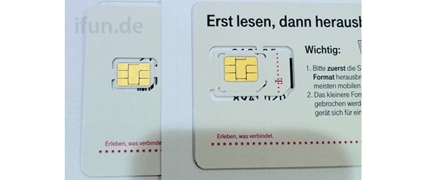 iPhone 5 Nano-SIM Card arrive in German Telekom Shops