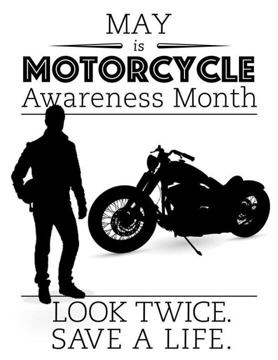 Image result for motorcycle awareness month 2017