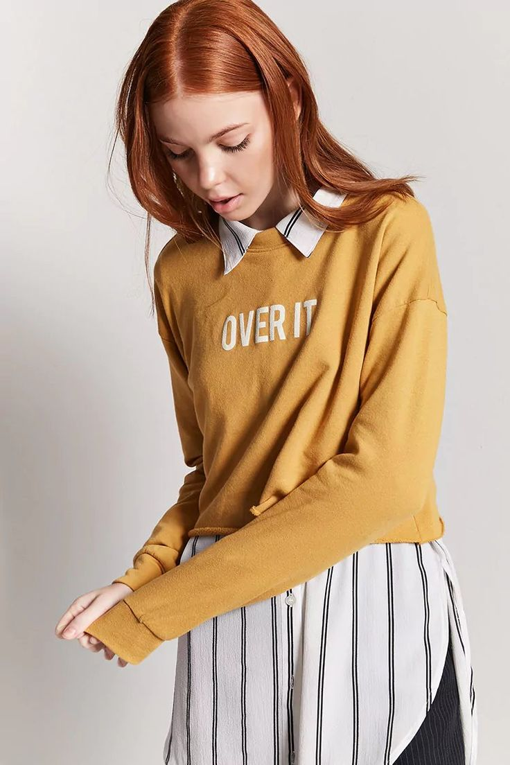 Product Name:Over It Graphic Crop Pullover, Category:top_blouses, Price:17.9