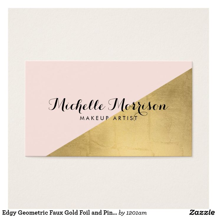 22 best geometric business cards images on pinterest 1st grades edgy geometric faux gold foil and pink color block reheart Gallery