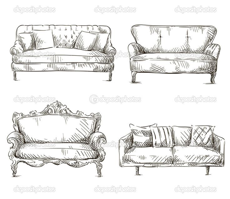 8 best sofas from pattern book of upholstery images on for Sofa design sketch