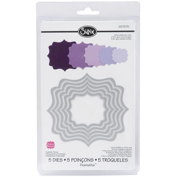Sizzix Labels Fancy by Stephanie Barnard Framelits Die Set, Pack of 5, Multi-Color: Amazon.co.uk: Kitchen & Home