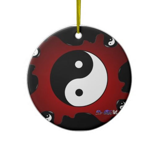 116 best christmas ornaments images on pinterest for Deco ying yang