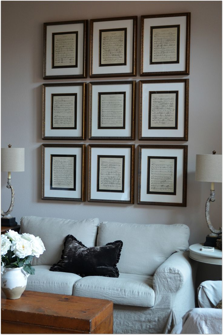 Sheet music in 16 x 20 frames for the piano room                                                                                                                                                                                 More