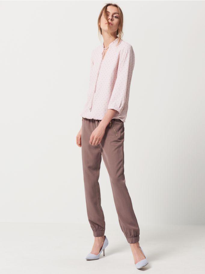 Luźne spodnie ze ściągaczem, MOHITO, QJ600-08X