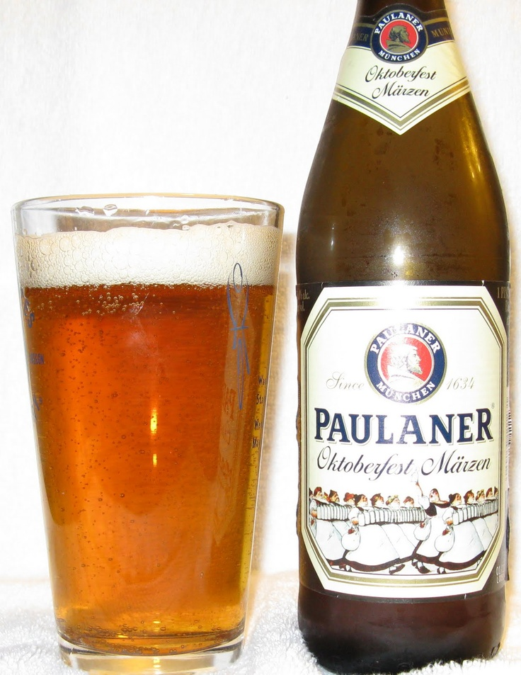 Paulaner, a great German beer. And they make a special brew for Oktoberfest too!