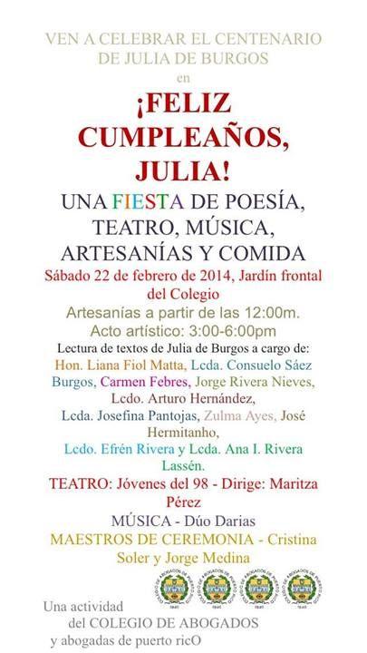 Feliz Cumpleaños Julia! @ Colegio de Abogados y Abogadas de Puerto Rico, Miramar #sondeaquipr #juliadeburgos #colegiodeabogados #sanjuan