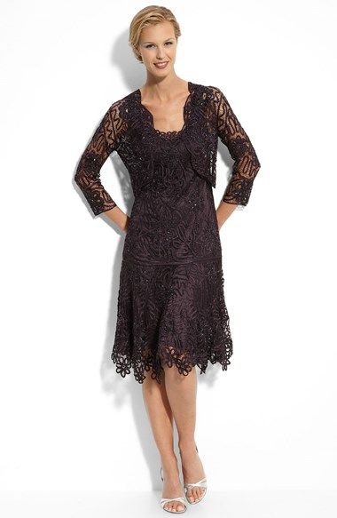 Free shipping and returns on Soulmates Beaded Crochet Silk Dress & Bolero at Nordstrom.com. Beaded, floral satin soutache covers a dropped-waist dress fashioned with a scooped neckline and scalloped hem. The sheer, matching jacket provides an elegant finish.