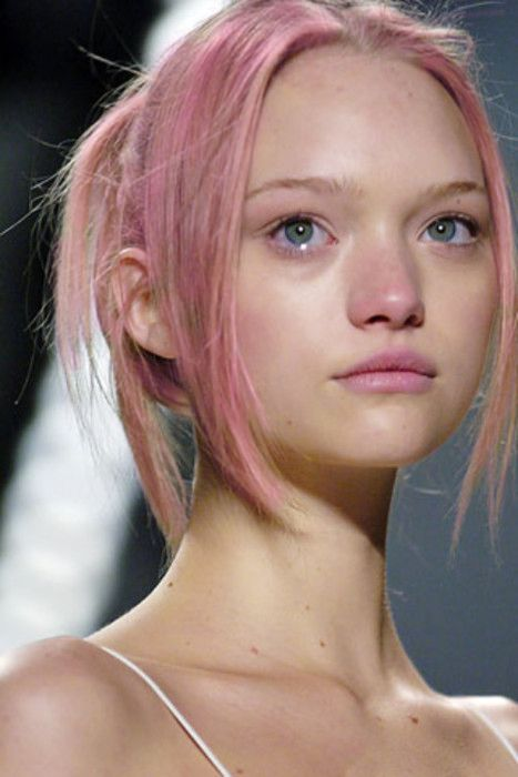 gemma ward, green eyes, pink hair