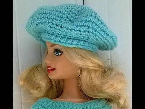 Boina de crochê para boneca barbie - YouTube