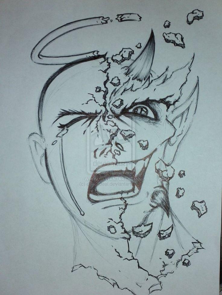 Рисунок добро и зло карандашом