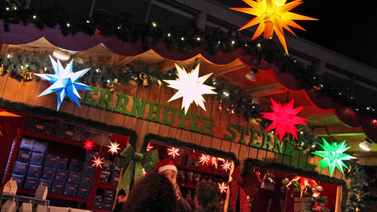 """We´ll be back in 2015. Don´t miss our """"Herrnhuter Sterne Hut"""" where you can find everything to light up your Christmas decoration and build your own """"snuggery"""". In our Hut full of lights you will find modern decoration products from Raeder/Bochum, sweet Christmas decoration gifts from Confiserie Heidel/Osnabrueck and the original German Herrnhuter Christmas Stars. #mybrilliantstar #herrnhutstar #moravianstar #christmas #decoration #vancouverchristmasmarket"""