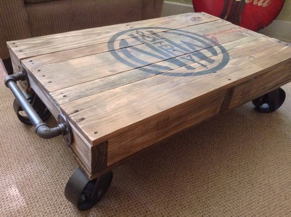 25 best ideas about industrial coffee tables on pinterest. Black Bedroom Furniture Sets. Home Design Ideas