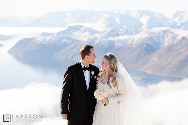 Heli Winter wedding in Wanaka
