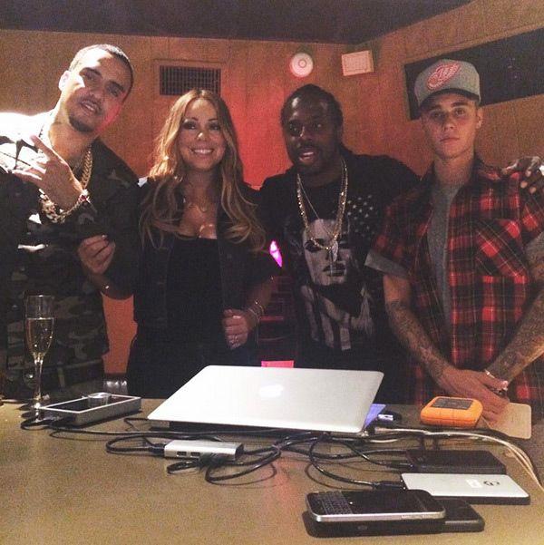 Justin Bieber Crashed Mariah Carey & French Montana Recording & Ended Up OnSong