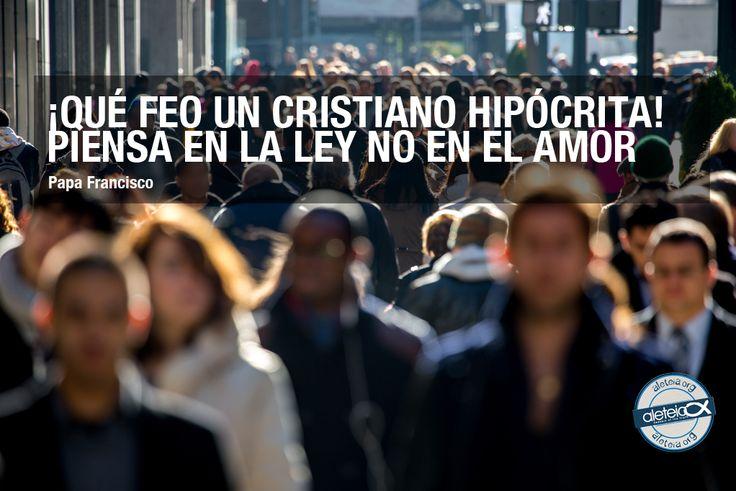 """La frase de hoy, 4 de noviembre, de #PapaFrancisco: """"¡Qué feo un cristiano hipócrita..."""""""