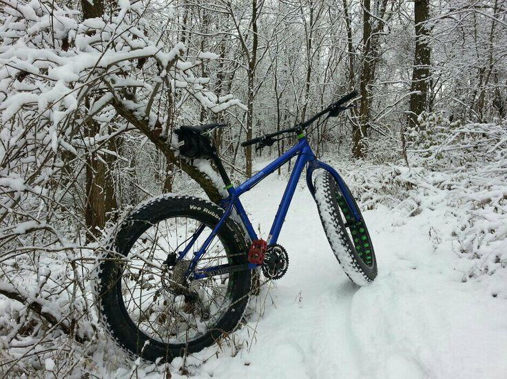 Motobecane Fat Bike in the snow #motobecane #fatbike #bikesdirect from mtbr user Gibster http://forums.mtbr.com/... #fatbike #bicycle