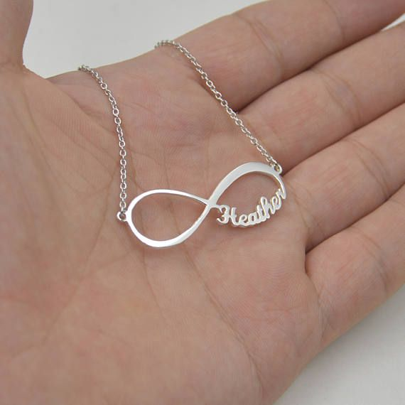 Rose Gold Infinity Necklace Pearl Infinity Sign Stamped Leaf Charm Pendant Custom Initial Personalized Letter Infinity Jewelry