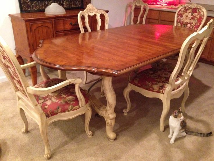 Century Country French Dining Room Table And Chairs