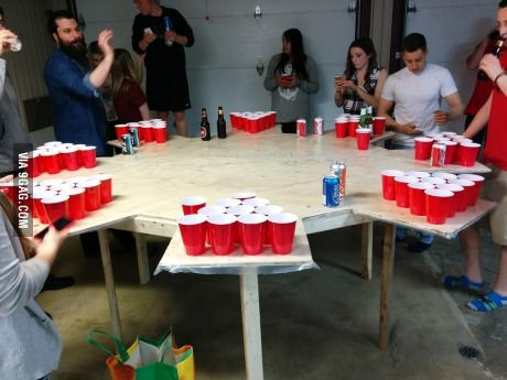 Because f**k regular beerpong, that's why!