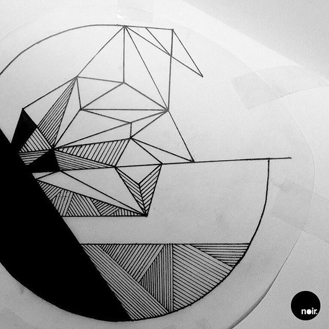 ✖️ Triangles & Lines ✖️  .  .  #noirillustrations #art #artist #artwork #tattoo #tattoos #tattooed #tattooflash #tattoolife #tattoodesign #tattooartist #tattooing #sketch #drawing #inked #ink #inklife #blackwork #blackandwhite #black #noir #dotwork #illustration #flashaddicted #triangle #triangles #line #lines #polygon #geometry