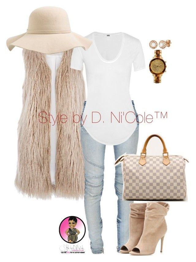 """""""Untitled #2944"""" by stylebydnicole ❤ liked on Polyvore featuring River Island, Balmain, Helmut Lang, Burberry, Louis Vuitton, S'well, Allurez and ALDO"""