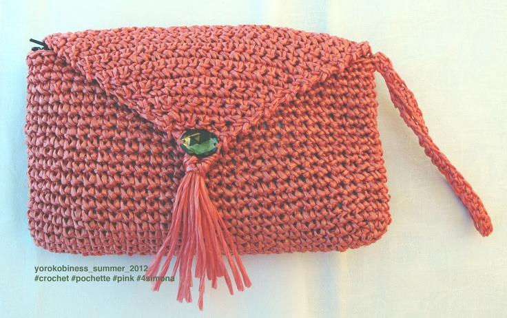 pochette #crochet #summer #pink