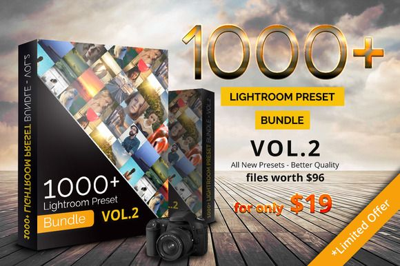 1000+ Lightroom Preset Bundle Vol.2 by pmvchamara on Creative Market