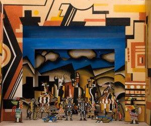 Maquette du décor final réalisé par Fernand Léger