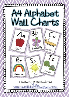 Free! A4 Alphabet Posters from Little Learners