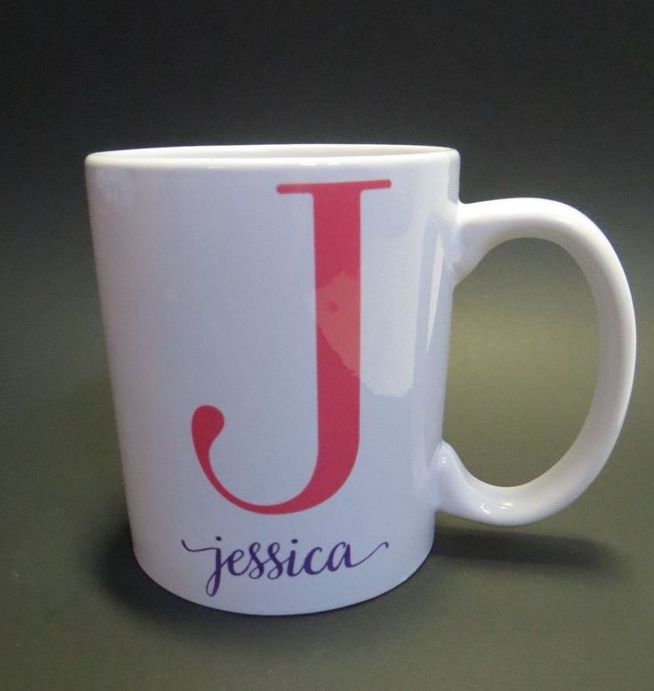 17 best images about i love mugs on pinterest ceramics for Monogram letters for cups